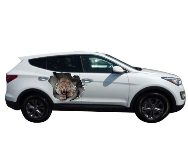 car decal leopard 35