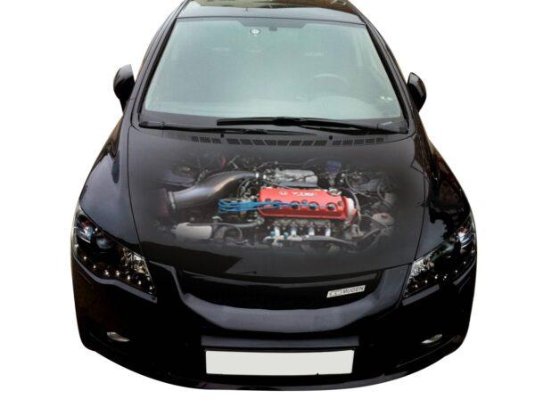 3д Наклейка на капот двигатель Хонда