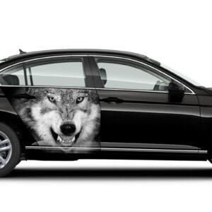 Наклейка на авто Grandmaster3d Волк 1000х700х0.15мм