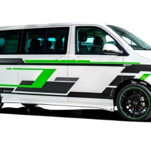 Камуфляж полосы на авто Grandmaster3d Микроавтобус фольксваген транспортер Т6 4860х980х0.075мм
