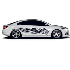 Наклейки полосы на авто 3D TUNING STUDIO Акула 2248х990х0.060мм