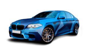 Авто камуфляж синий
