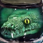 Наклейка крокодил 3д