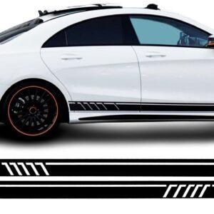 Полосы на двери авто 3D TUNING STUDIO Черные -22 4000х100х0.060мм
