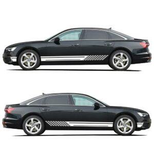 Полосы на двери авто 3D TUNING STUDIO White 1000х720х0.060мм