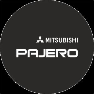 Наклейка на запаску Grandmaster3d Mitsubishi-Black 750х750х0.15мм