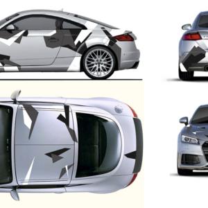 Камуфляж на авто 3D TUNING STUDIO Audi-TT 3210х980х0.060мм