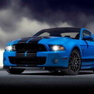 Полосы на авто Grandmaster3d Ford Mustang BLACK-GL 4200х500х0.060мм