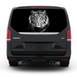 3д наклейка Тигр стекло