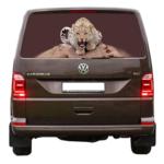наклейка на стекло леопард 22