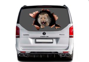 3д наклейка Леопард 1