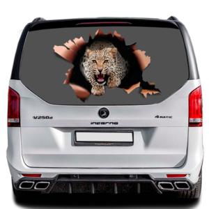 3д наклейка на заднее стекло Grandmaster3d Leopard-GF 1490х800х0.18мм