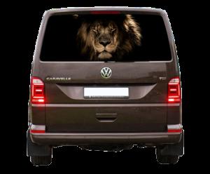 Наклейка лев 55