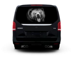 Наклейка на стекло медведь