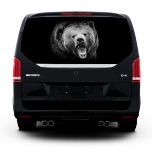3д наклейка на заднее стекло Grandmaster3d Bear-BL 1490х800х0.18мм