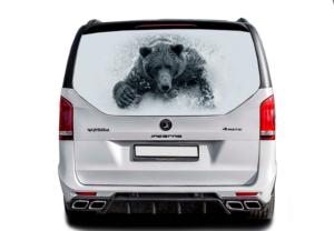 Наклейка 3д медведь