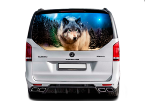Наклейка на стекло Волк