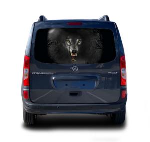 Наклейка волк блк