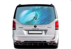 Наклейка на стекло серфинг