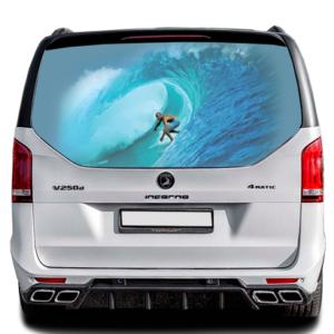 3д наклейка на заднее стекло Grandmaster3d Surfing 1498х800х0.18мм