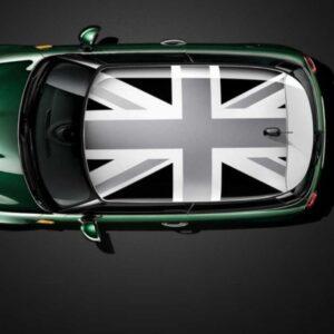 Наклейка на крышу мини купер Grandmaster3d Флаг Британии черно серый 1300х1850х0.14мм
