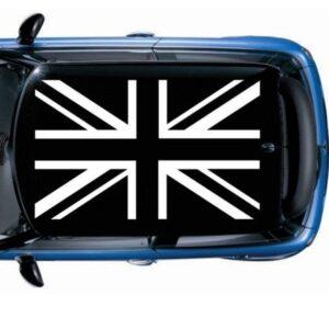 Наклейка на крышу мини купер Grandmaster3d Флаг черно белый 1300х1850х0.14мм