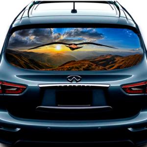 3д наклейка на заднее стекло 3D TUNING STUDIO Орёл 1480х700х0.18мм