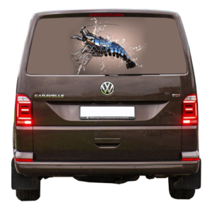 3д наклейка на заднее стекло авто Grandmaster3d Рак 1480х700х0.18мм