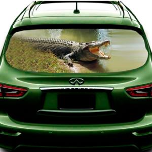 3д наклейка на заднее стекло авто Grandmaster3d Крокодил 1480х700х0.18мм