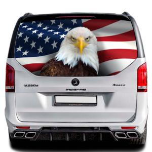Наклейка на заднее стекло Grandmaster3d Флаг Америки универсальная