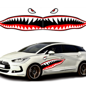 Наклейки на авто  3D TUNING STUDIO Зубы акулы 1180х390х0.14ммх2штуки