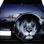 Лев черно белый