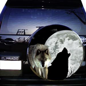 Наклейка на запасное колесо  3D TUNING STUDIO Волки Луна 2 750х750х0.15мм