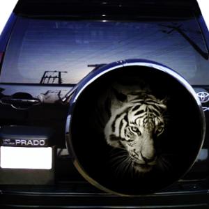 Наклейка на запаску  3D TUNING STUDIO Тигр ночь 750х750х0.15мм