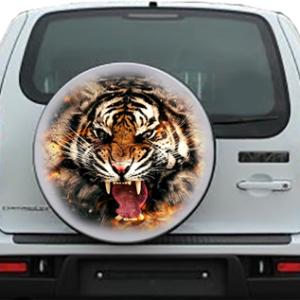 Наклейка на запаску  3D TUNING STUDIO Нивы Тигр 500х500х0.15мм