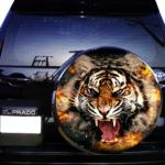 Наклейка тигр Огонь