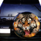 Наклейка на запаску Astart3d Тигр Огонь 750х750х0.15мм
