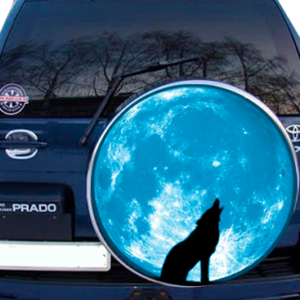 Наклейка на запаску  3D TUNING STUDIO Луна Волк 750х750х0.15мм