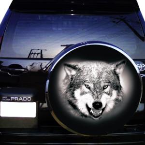 Наклейка на запаску  3D TUNING STUDIO Волк С 750х750х0.15мм