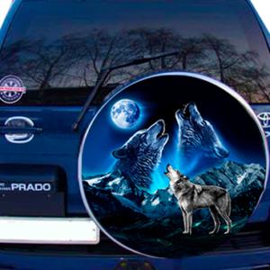 Наклейка на запаску  3D TUNING STUDIO Волки Горы 750х750х0.15мм