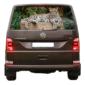 Наклейка на заднее стекло авто Grandmaster3d Леопард камень 1480х700х0.18мм