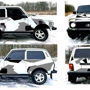 Камуфляж на авто 3D TUNING STUDIO Нива геометрический 5020х980х0.060мм