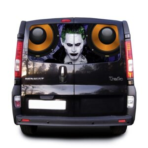 Наклейка на заднее стекло 3D TUNING STUDIO Joker Music 1480х700х0.18мм