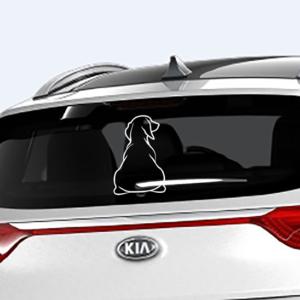 Наклейка на заднее стекло авто 3D TUNING STUDIO Такса с хвостом 250х180х0.15мм