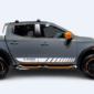 Полосы на авто 3D TUNING STUDIO Mitsubishi L200 1750х120х0.060мм=2штуки