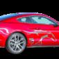 Наклейки полосы на авто 3D TUNING STUDIO Ford Mustang Лошадь 2200х600х0.060мм
