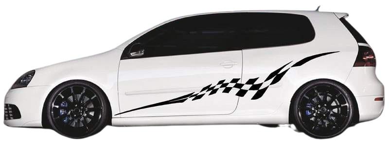 Полосы наклейки на авто 3D TUNING STUDIO Флаг Спорт 1980х290х0.060мм=2штуки
