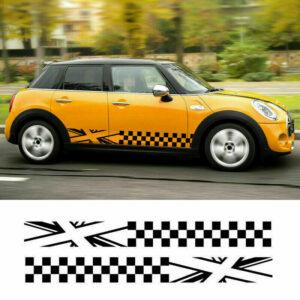 Наклейки полосы на двери авто 3D TUNING STUDIO Mini cooper 1000х480х0.060мм